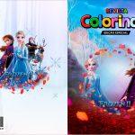 Capa Livrinho para Colorir Frozen 2