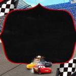 Convite Chalkboard Carros 3 Disney