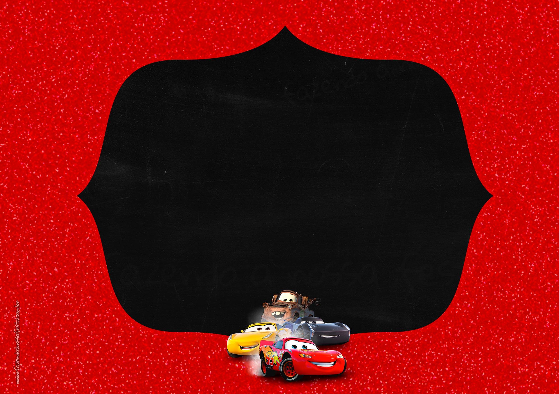 Convite Chalkboard Carros 3 Disney 2