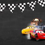 Convite Chalkboard Carros 3 Disney 4