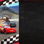Convite Chalkboard Carros 3 para imprimir