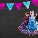 Convite Festa Frozen 2