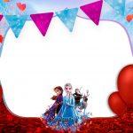 Convite Festa Frozen 2 gratis para imprimir