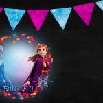 Convite Frozen 2 Chalkboard