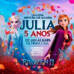 Convite Frozen 2 Preenchido exemplo