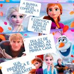 Convite Gibi Frozen 2 Preenchido exemplo