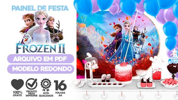 Painel Festa Frozen 2