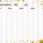 Planner Professor 2020 para Imprimir Planejamento Semanal