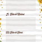 Planner para Professor Tema Girassol Lista de Filmes Musicas Livros