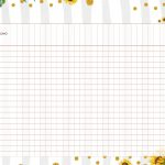 Planner para Professor Tema Girassol Tabela em Branco