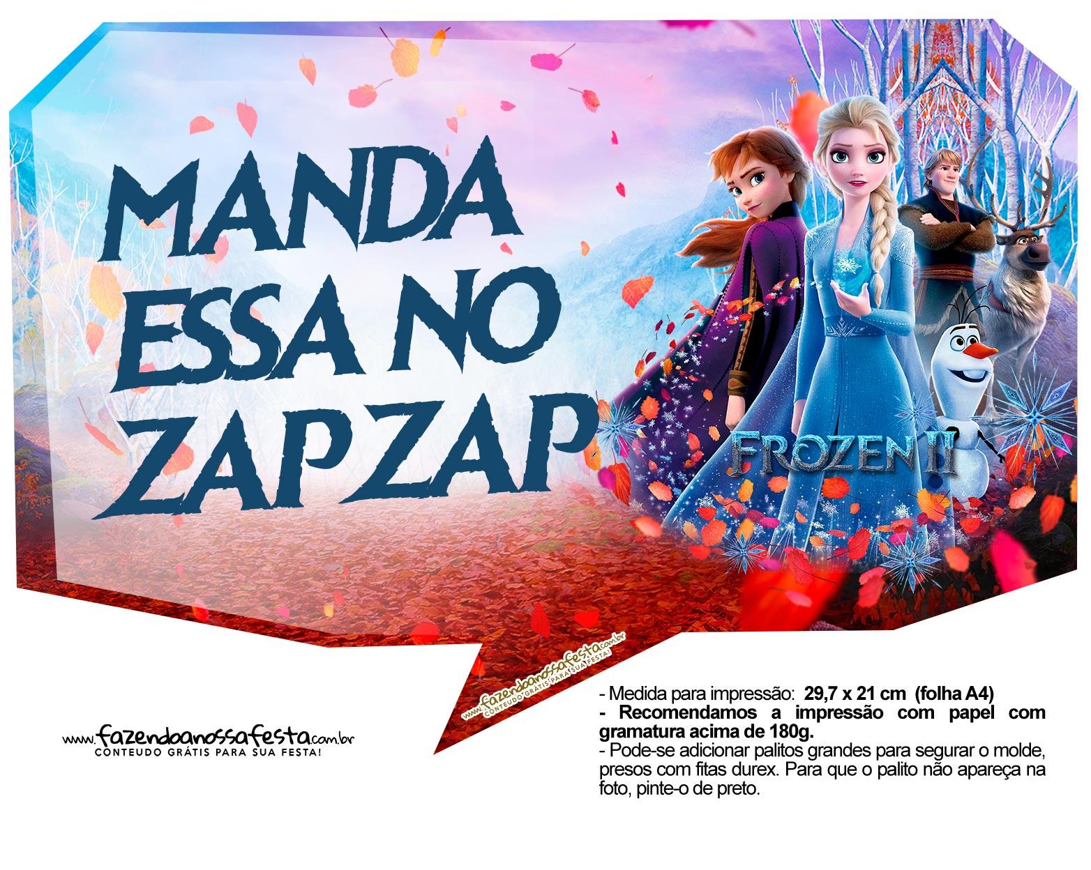 Plaquinhas Festa Frozen 2 3