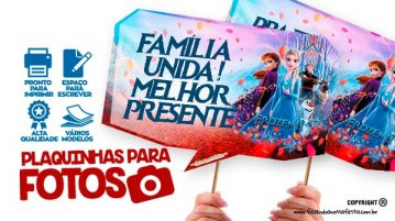 Plaquinhas Festa Frozen 2