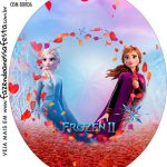 Rotulo Oval Frozen 2