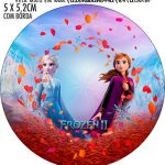 Rotulo Redondo Frozen 2