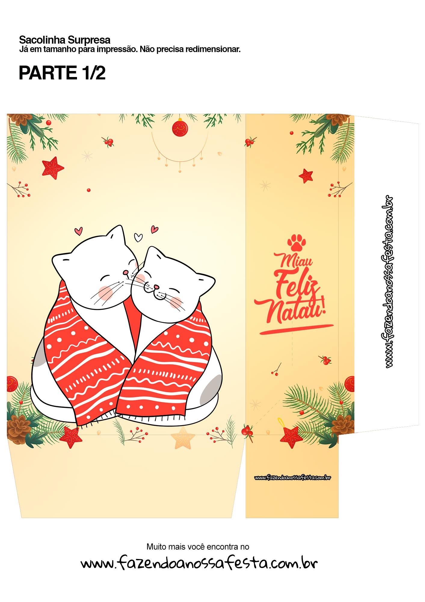 Sacolinha Surpresa Gatinhos branco