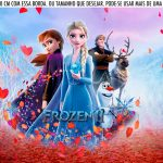 Saia Lateral de Bolo Frozen 2