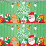 Saia de Bolo Natal Papai Noel