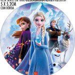 adesivo mini latinha Kit Festa Frozen 2