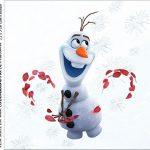 rotulo adesivo caixa de acrilico Frozen 2