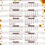 Calendario 2022 Girassol