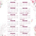 Calendario 2022 Floral