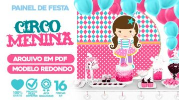 Painel Festa Circo Menina