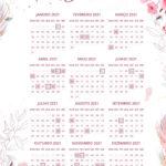 Planner Floral Calendario 2021 1