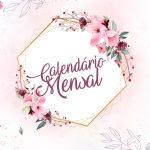 Planner Mensal Floral para Professores Capa Calendario Mensal