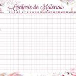 Planner para Professores Floral Controle de Material