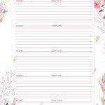 Planner para Professores Floral Informacoes de Alunos