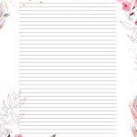 Planner para Professores Floral Lista de Metas