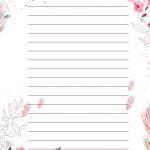 Planner para Professores Floral Modelo em Branco