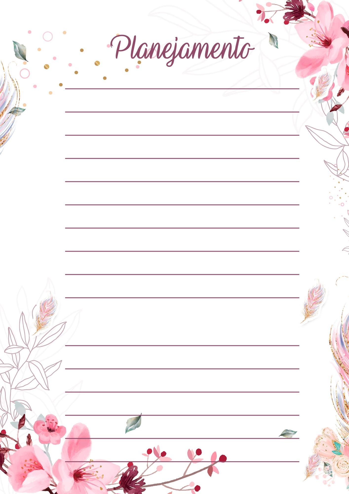 Planner para Professores Floral Planejamento