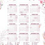Planner para Professores Tema Floral Calendario Professor