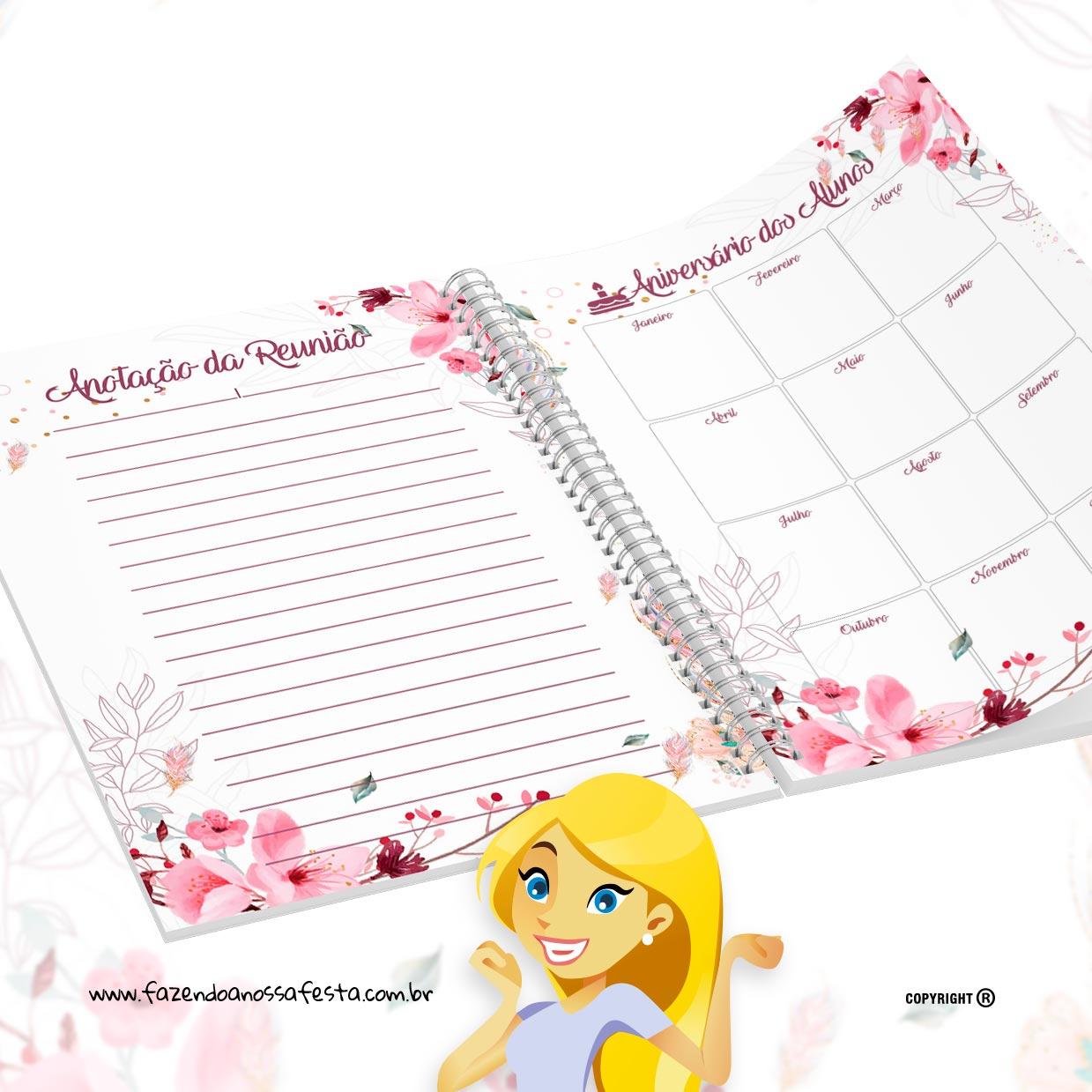 caderno plano de aula educacao infantil floral 2020 para imprimircaderno plano de aula educacao infantil floral 2020 para imprimir