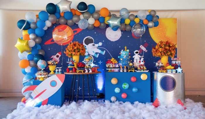 1 Ideias para Festa Astronauta