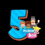 5 com personagem Mundo Bita