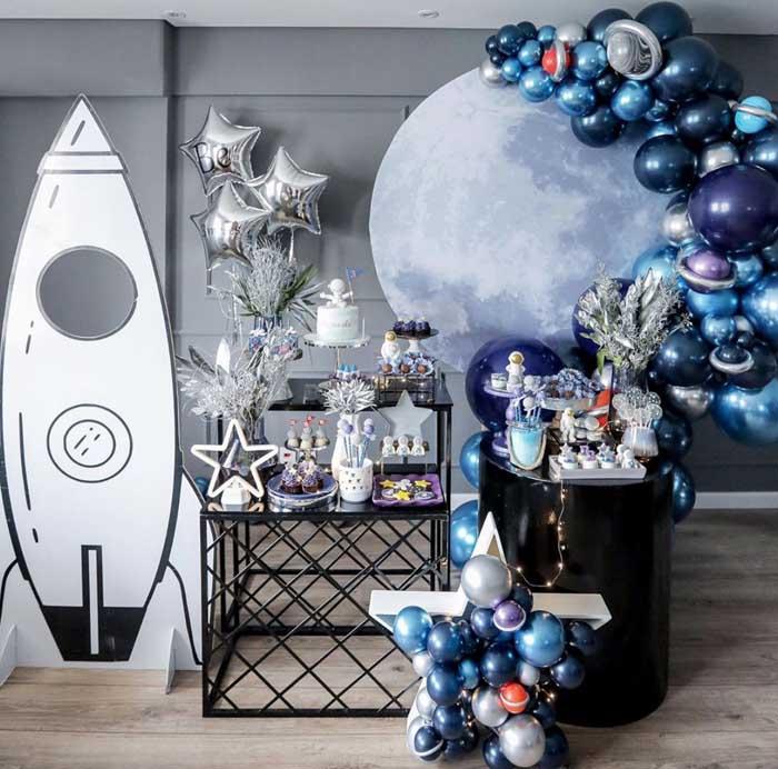 9 Ideias para Festa Astronauta