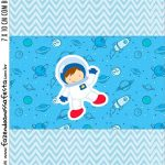 Adesivo Bala Personalizada Kit Festa Astronauta Cute