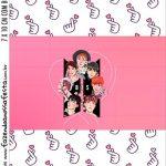 Adesivo Bala Personalizada Kit Festa BTS Anime