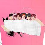 Adesivo Balde de Pipoca Kit Festa BTS Anime