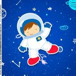 Adesivo Caixa Acrilica Kit Festa Astronauta