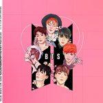 Adesivo Caixa Acrilica Kit Festa BTS Anime