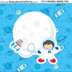 Adesivo Marmitinha Personalizada Kit Festa Astronauta Cute
