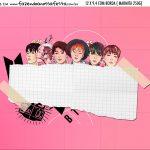 Adesivo Marmitinha Personalizada Kit Festa BTS Anime