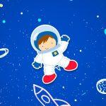 Adesivo Para Imprimir Astronauta