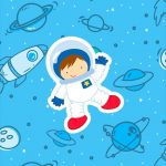 Adesivo Para Imprimir Astronauta Cute