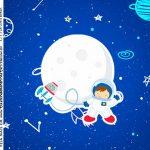Adesivo Quadrado Astronauta
