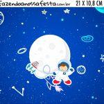 Adesivo para Cofrinho Kit Festa Astronauta