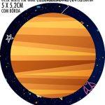 Adesivo para garrafinha Kit Festa Astronauta